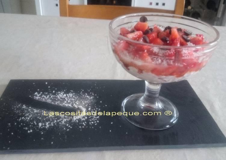 Postre ligero de fresas