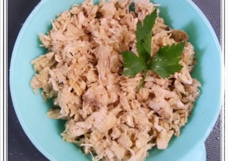 Abon Ayam (toping mie pangsit)