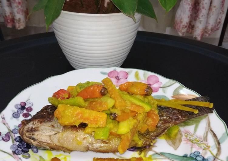 134. Mujair Acar Kuning - cookandrecipe.com