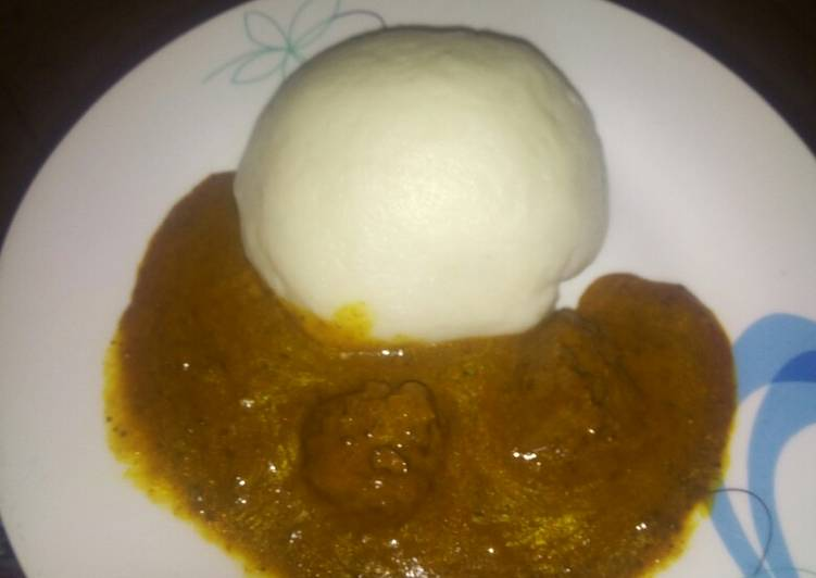 Step-by-Step Guide to Make Any-night-of-the-week Pounded yam with dried okro/ogbono soup