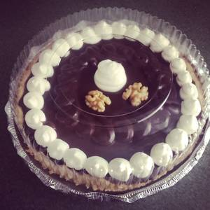 Tartaleta de manjar nuez con ganeche de chocolate