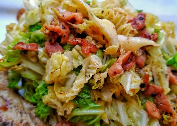 Step-by-Step Guide to Prepare Speedy Savoy Cabbage With Bacon