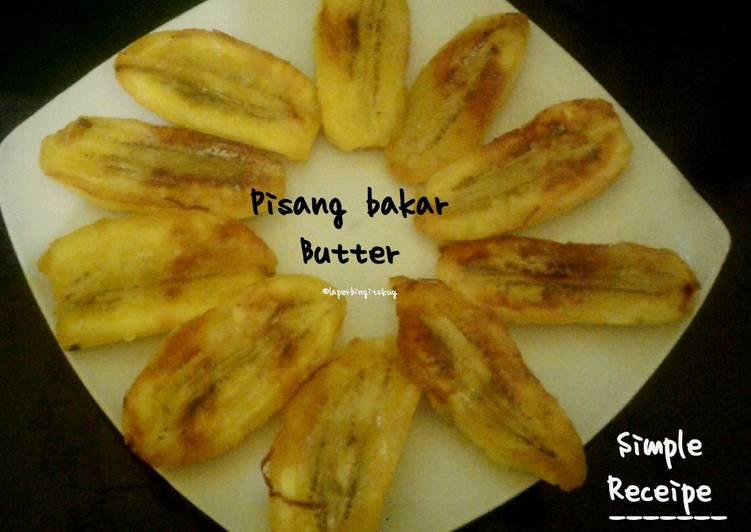 Pisang Bakar Butter Teflon 3 bahan / cemilan resep simpel