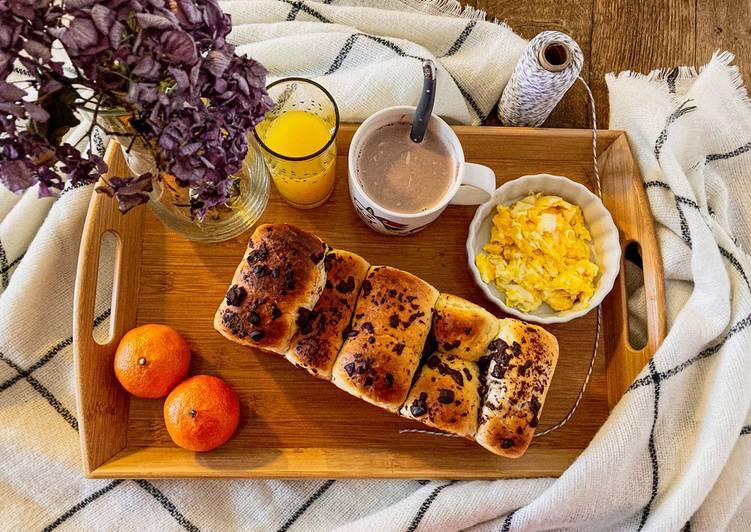 Recette Appétissante Brioche fleur d'oranger et pépites de chocolat