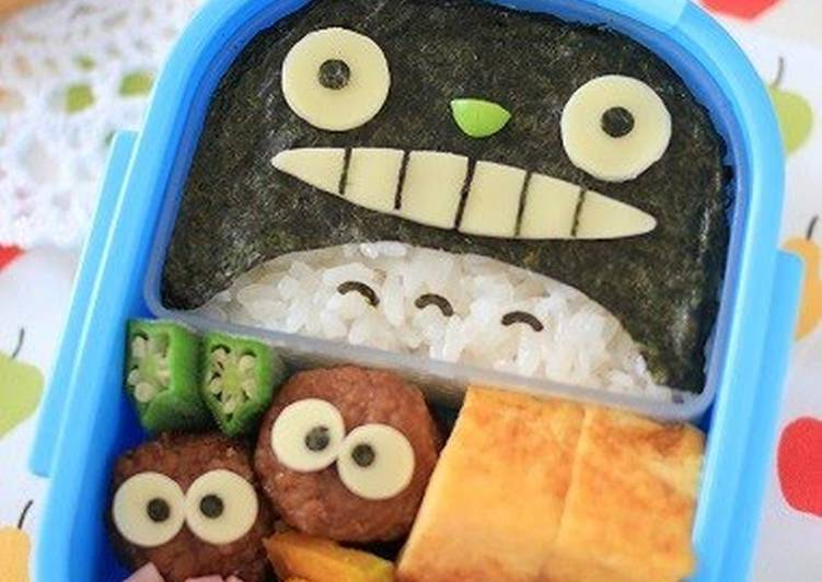 Easiest Way to Prepare Quick Easy Totoro Charaben (Kids Bento)
