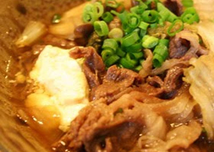 Foods That Make You Happy Sukiyaki-style Simmered Vegetables and Beef