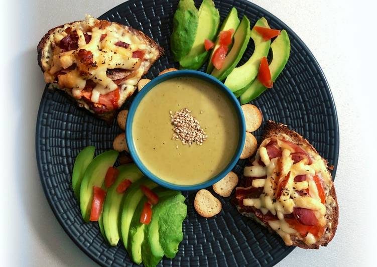 🌿Petit velouté de légumes avec ses tartines au jambon cru🌿