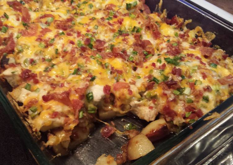 Chicken Bacon Ranch Potato Bake