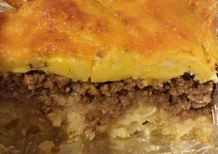 Elisa's Potato & Sweet Plantain Meat Pie