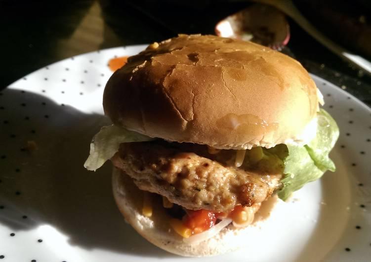 Mandys homemade chicken burgers