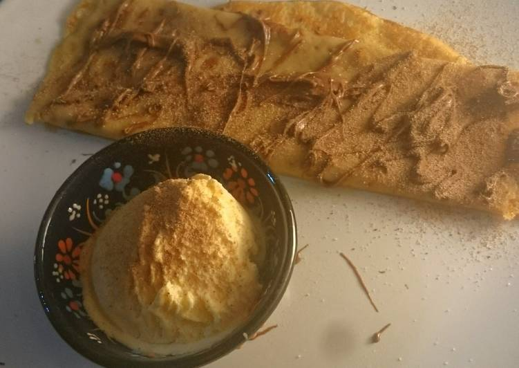 Step-by-Step Guide to Make Award-winning Cappuccino and hazelnut butter crepe �