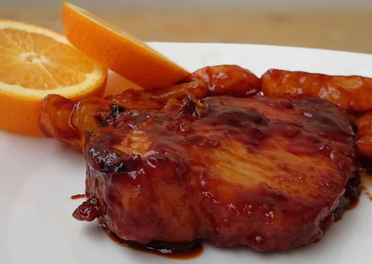 Pork Chop In Orange Sauce