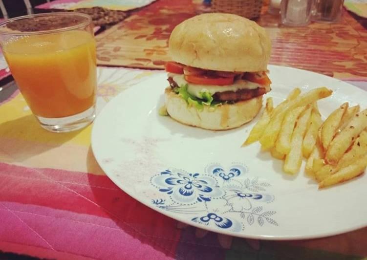 Beef chapli kabab burger