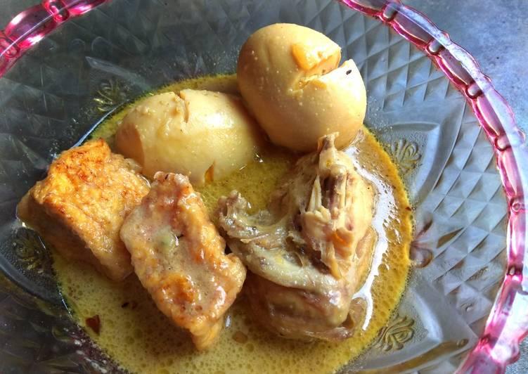 Resep Opor ayam dan telur pelengkap gudeg Yang Bikin Ngiler