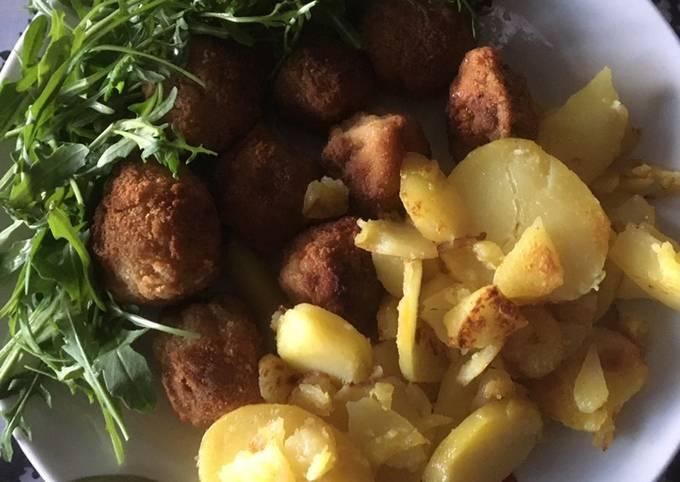 Fried chestnut mushrooms