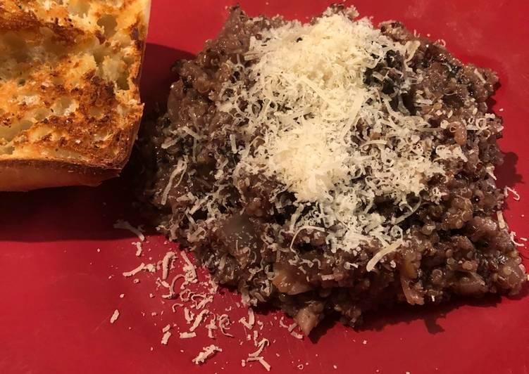 Simple Way to Prepare Perfect Balsamic Quinoa Mushroom Risotto