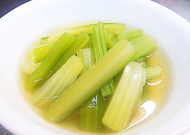 Celery Steamed in Konbu Tea