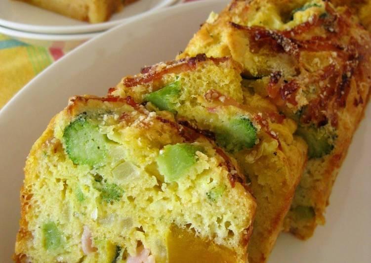 Cake Salé (Savory Cake) with Kabocha Squash and Broccoli