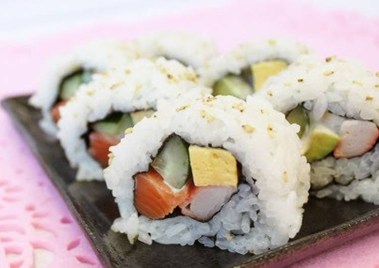 Easiest Way to Cook Appetizing California Roll with Wine Vinegar