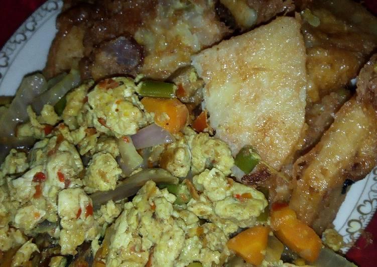 Recipe of Favorite Doya da Kwai da miyar Kwai me kayan lanbu