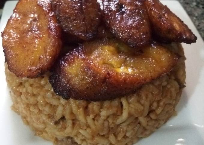 Suya Jollof Rice with Fried Plantain #teamabuja