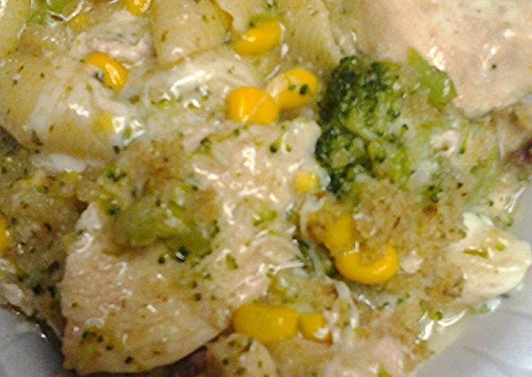 an improvisation on the stove top or stove top casserole