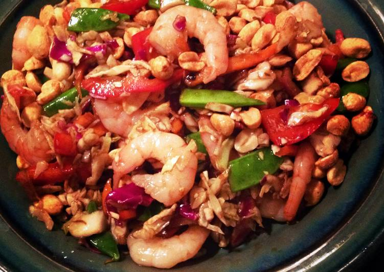 Spicy Asian Slaw With Shrimp