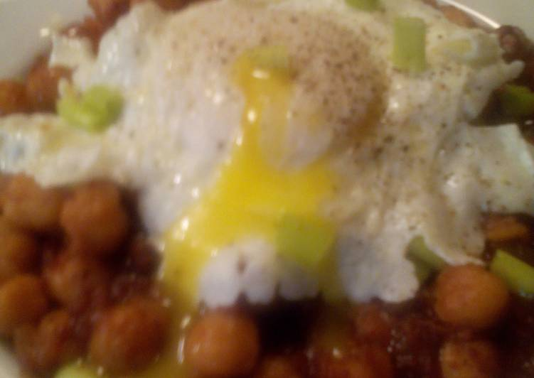 Sunshne's Chorizo chick peas breakfast
