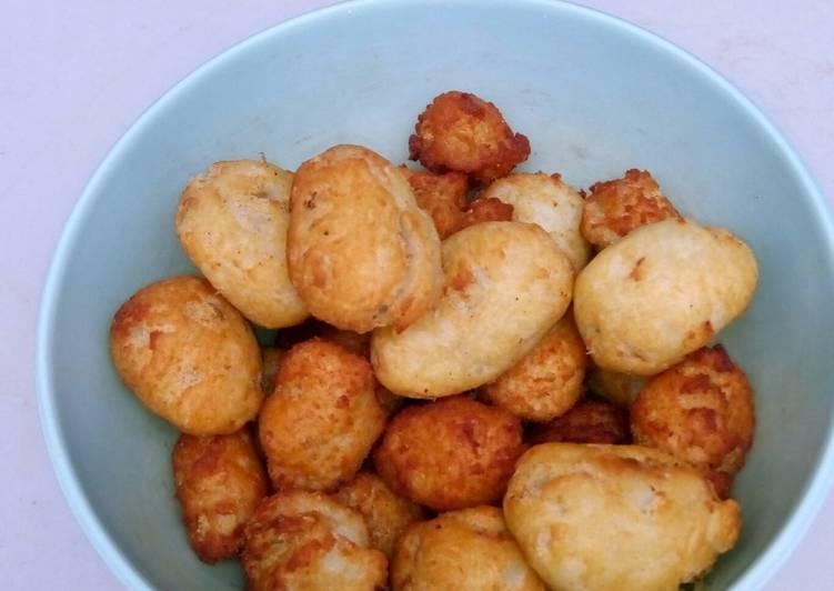 Perkedel ubi+ikan tengiri