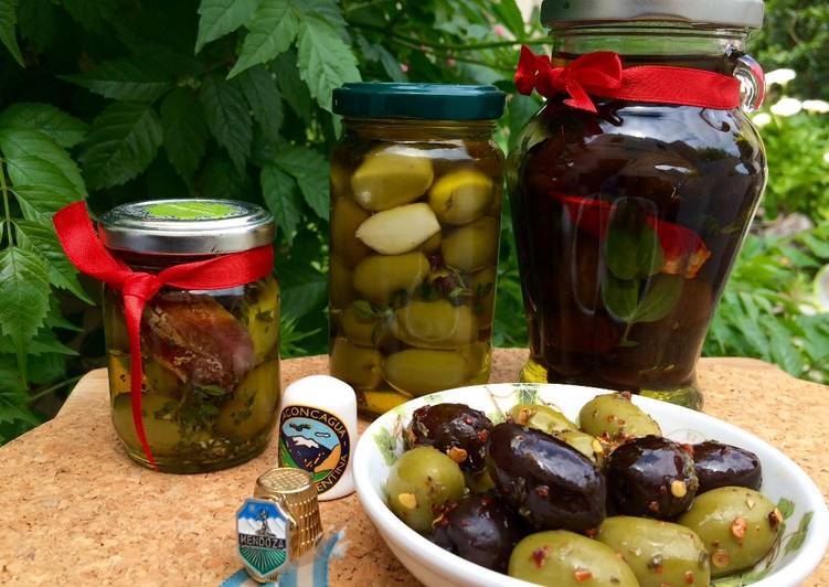 Como preparar aceitunas verdes condimentadas