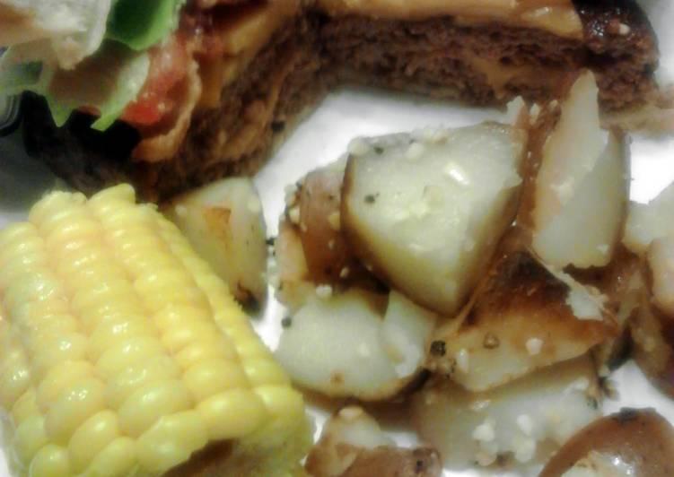 Grilled Bacon Cheddar Stuffed Burgers