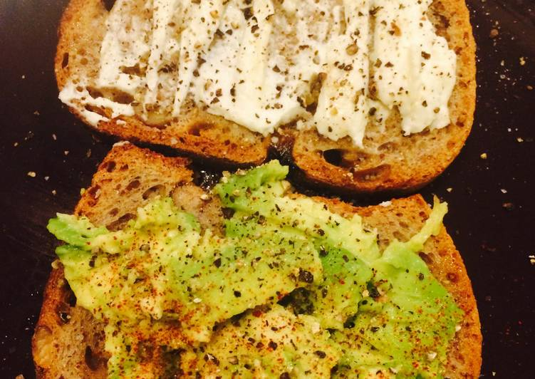 Goat Cheese And Avocado Tartines