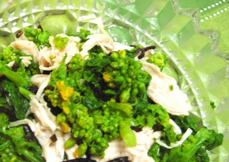 Refreshing Broccolini and Chicken Tenders Tossed with Shio-Kombu