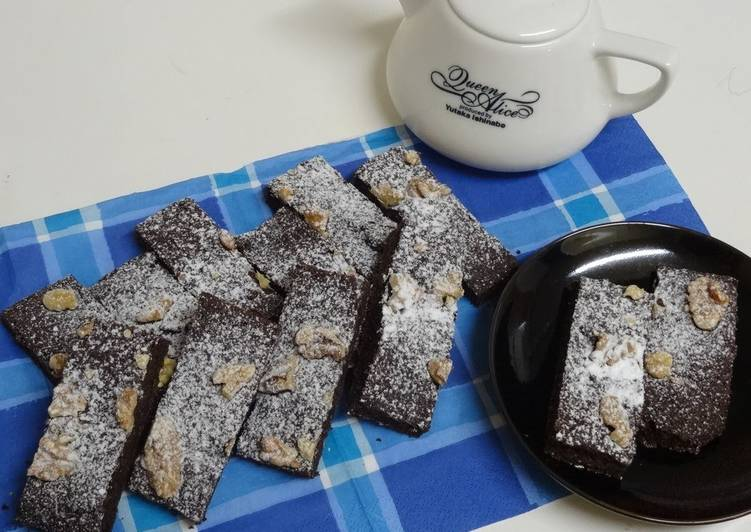 Selecting The Best Foods May Help You Stay Fit And Healthy Chewy Brownies with Leftover Okara