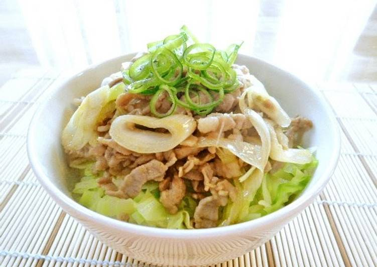 Recipe of Any-night-of-the-week Pork and Cabbage Rice Bowl With Yuzu Pepper