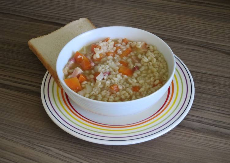 Recipe of Favorite Pearl Barley and Bacon Stew