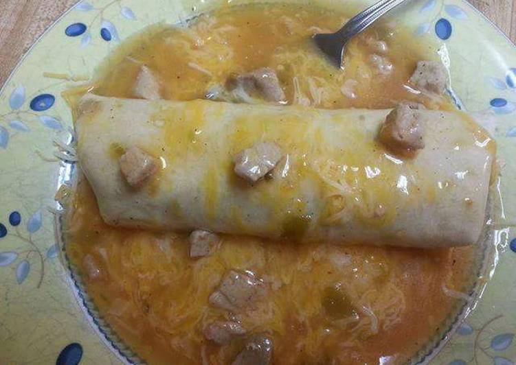 Easiest Way to Prepare Top-Rated Smothered Beef and Bean  Burritos