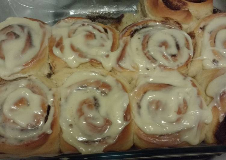 Cinnamon Rolls with Cream Cheese Frosting!!