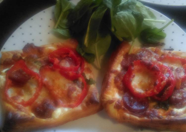 Easiest Way to Make Ultimate Mandys chorizo and spinach puff squares