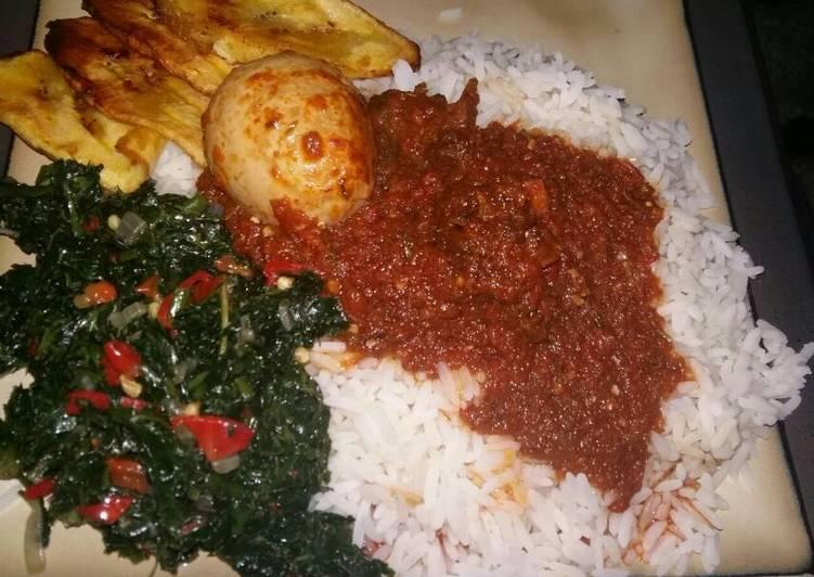 Rice & Stew with Veg sauce