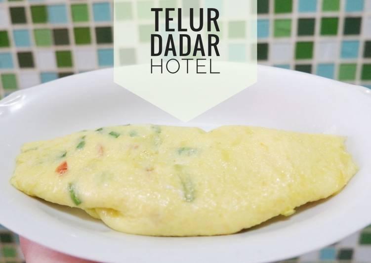 Resep Telor dadar / omlette / scramble egg praktis ala hotel Paling Top