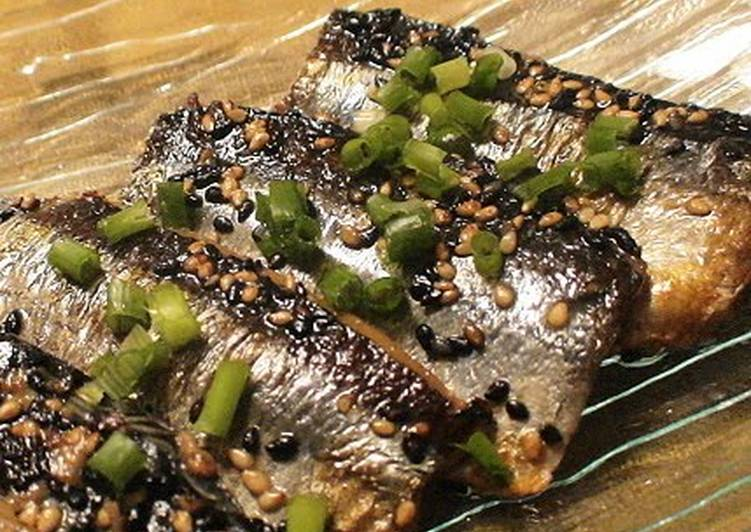 Pacific Saury Roasted with Sesame Seeds - Laurie G Edwards