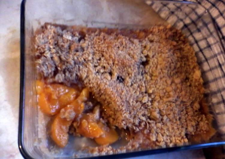 Recipe of Perfect Peach Crumble