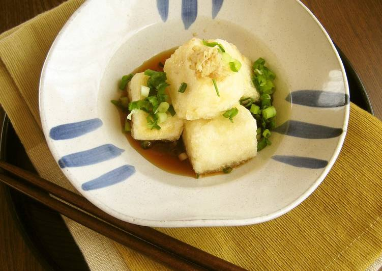 The Meals You Select To Eat Will Effect Your Health Agedashi Tofu (Fried Tofu)