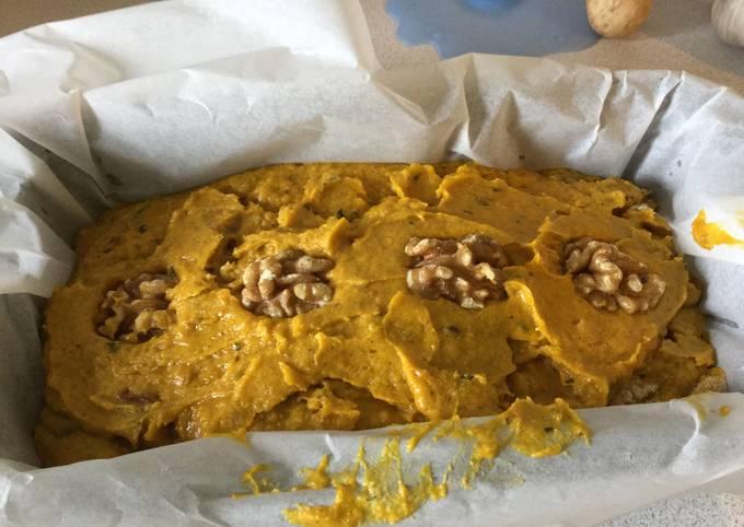 Pumpkin cake x rice flour without sugar