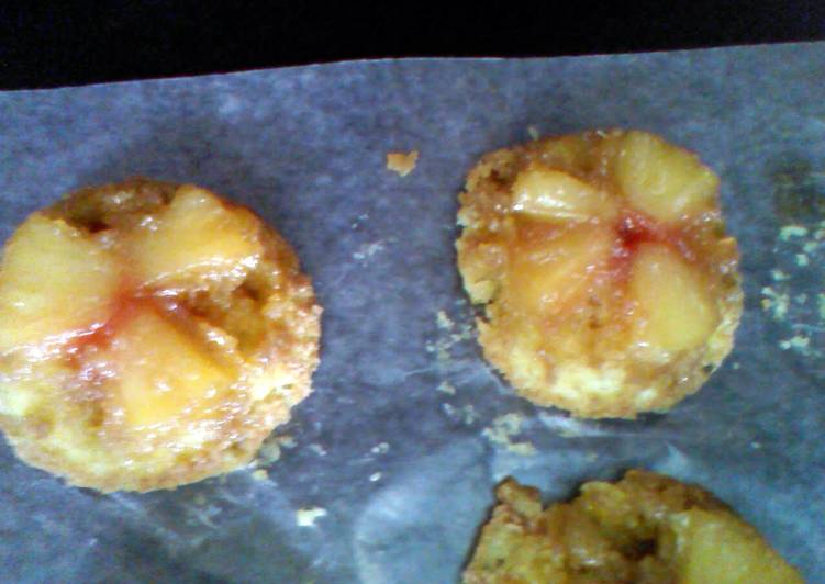 pineapple upside down individual cakes