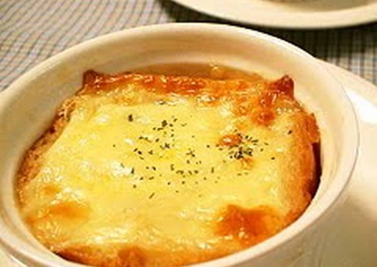 Recipe of Speedy Onion Gratin Soup For Christmas