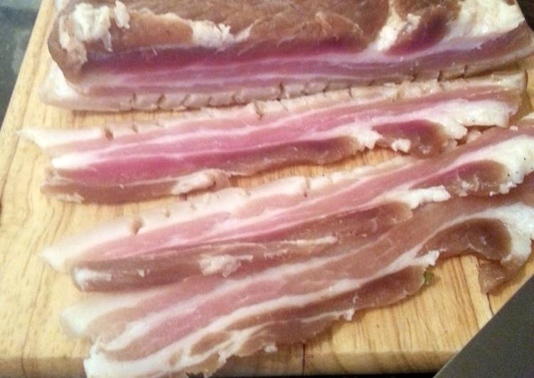 Recipe of Homemade 10 Day Pork Belly Cure for Bacon