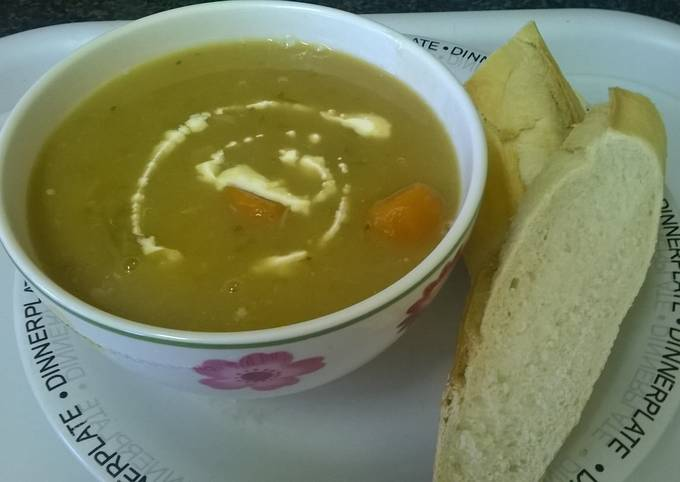 Chicken & vegetable soup.
