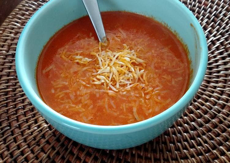 Roasted red peppers soup